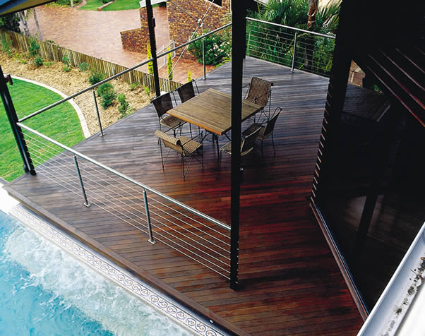 Large image of Select Grade Forest Red Decking on pool verandah