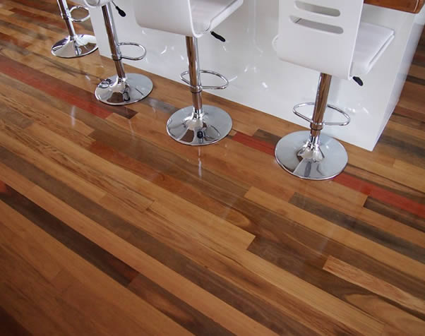 Large image of Hairdressers Floor featuring Premium Grade Mixed Hardwoods