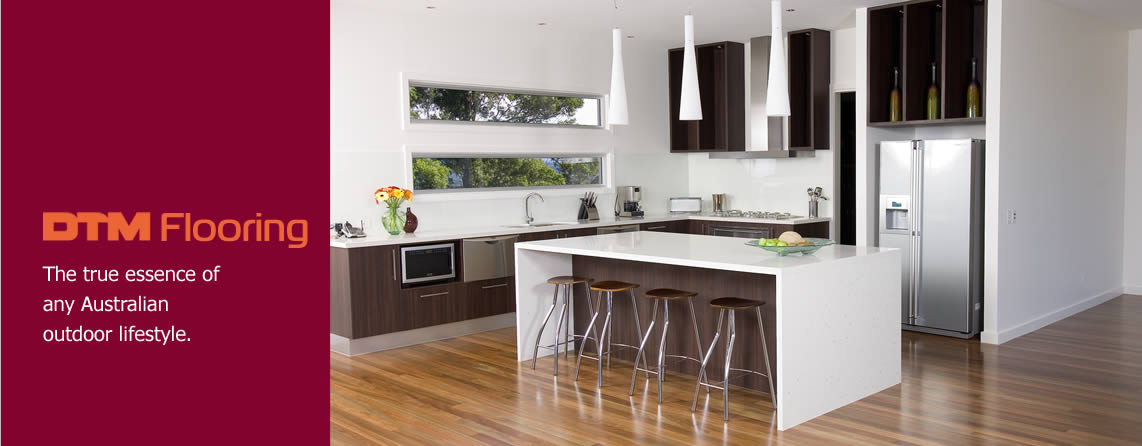 Photo of timber flooring used in a kitchen setting
